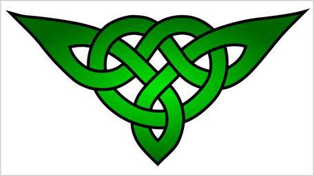 modern celtic triangular cross