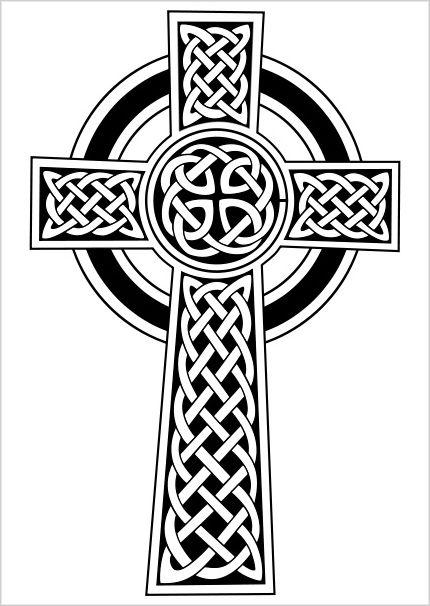 celtic high cross clipart