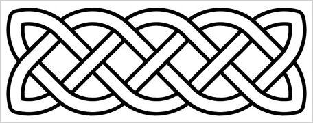 horizontal celtic knot clipart